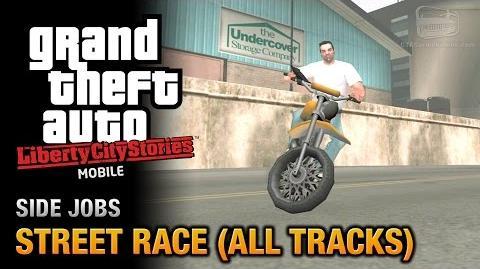 GTA Liberty City Stories Mobile - Street Race (All Tracks)