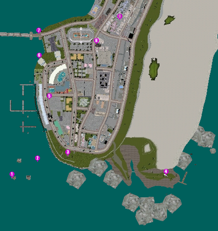 GTAVC HiddenPack 1-9 Ocean Beach