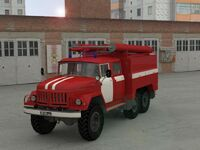 ZIL 131 fire engine - Criminal Russia