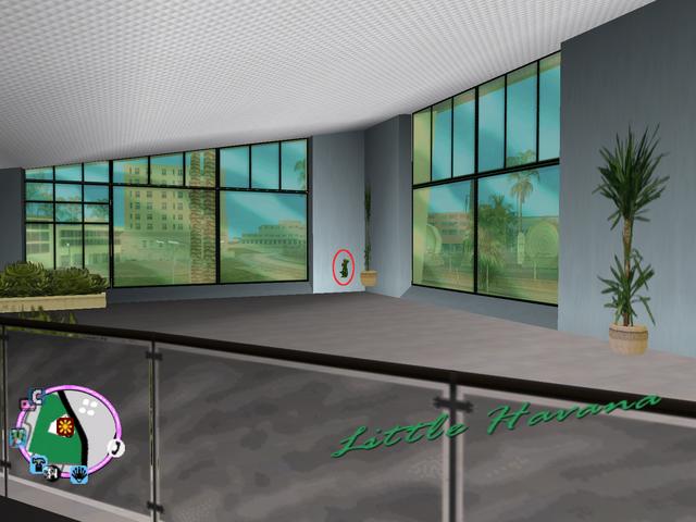 File:GTAVC HiddenPack 78 NW corner 2nd floor of Sunshine Autos showroom..png