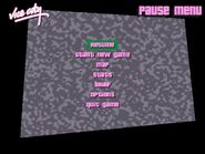Pause Menu of GTA VC