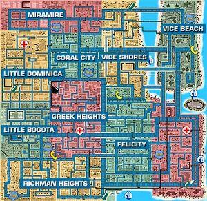 Vice City map (GTA I)