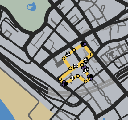 GTAO-Bahama West Mama Mia! Race Map