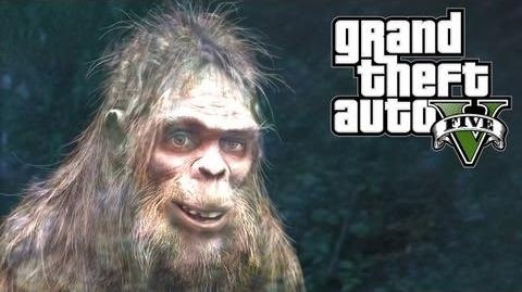 GTA 5 Easter Eggs - Bigfoot (GTA V)