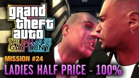 GTA The Ballad of Gay Tony - Mission 24 - Ladies Half Price 100% (1080p)