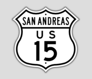 1948 Style US Route 15 Shield