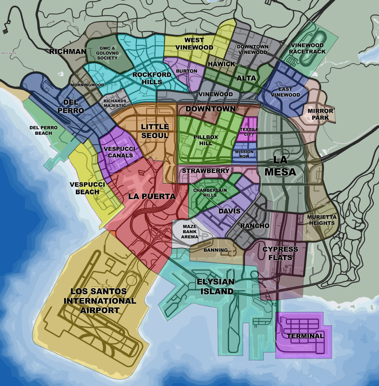 Districts/Street Names (mini)Map Mod - Suggestions