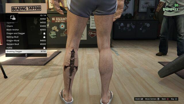 File:Tattoo GTAV Online Male Left Leg Smoking Dagger.jpg