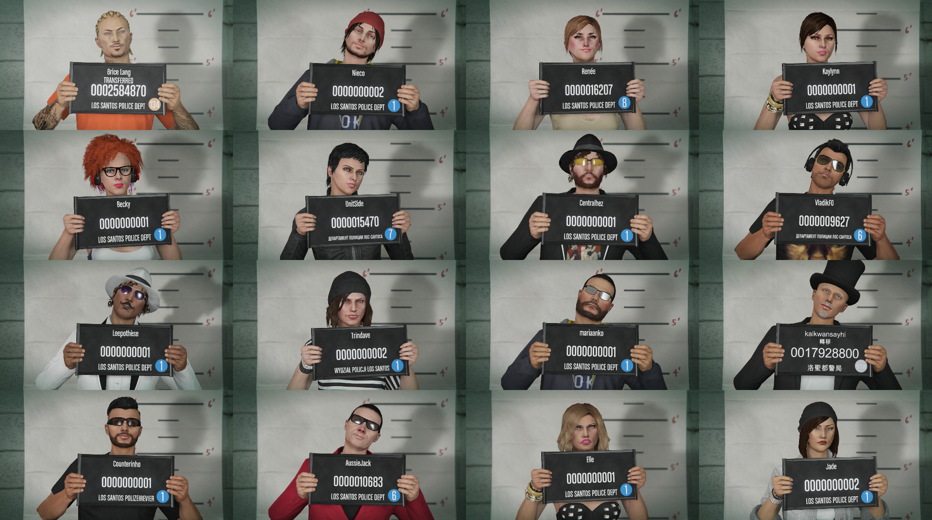 Image - GTA Online mugshot collage.PNG | GTA Wiki | FANDOM powered by Wikia