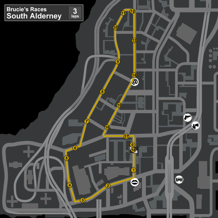 BruciesRaces-GTAIV-MapSouthAlderney