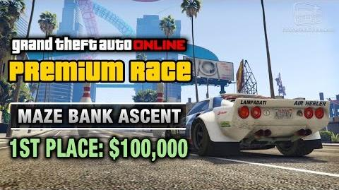 GTA Online - Premium Race 1 - Maze Bank Ascent (Cunning Stunts)