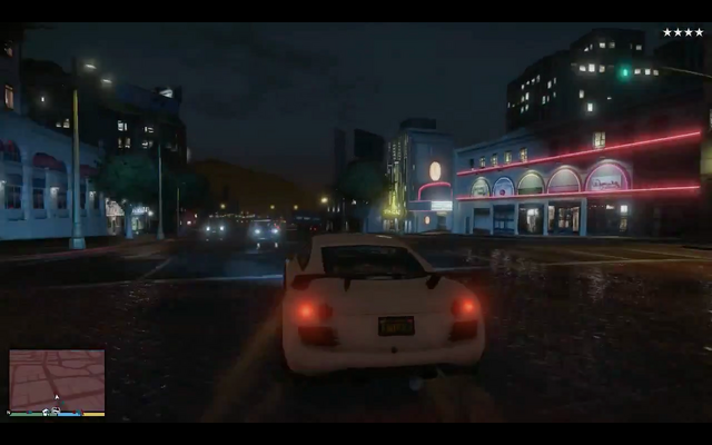 File:GTAV-gameplay-whitesportcar-avoidingpolice-streetsofLS.png