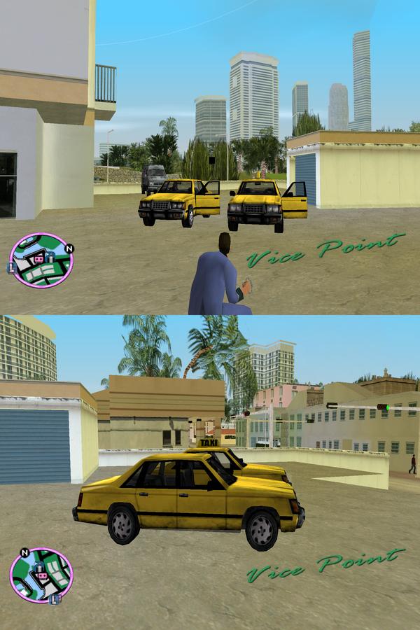 GTAVC Comparison-Gypsy Cab vs. Taxi