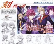 Advance of Zeta The Traitor to Destiny Manga CHARACTERS