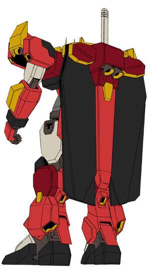 Extreme Gundam Tachyon Phase - Rear View