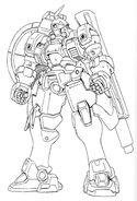 OZ-13MSX1 Vayeate Front View Lineart
