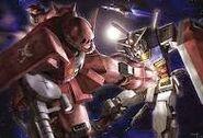 Char Zaku II VS Gundam
