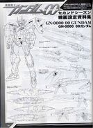 00 Gundam Lineart and Weapons