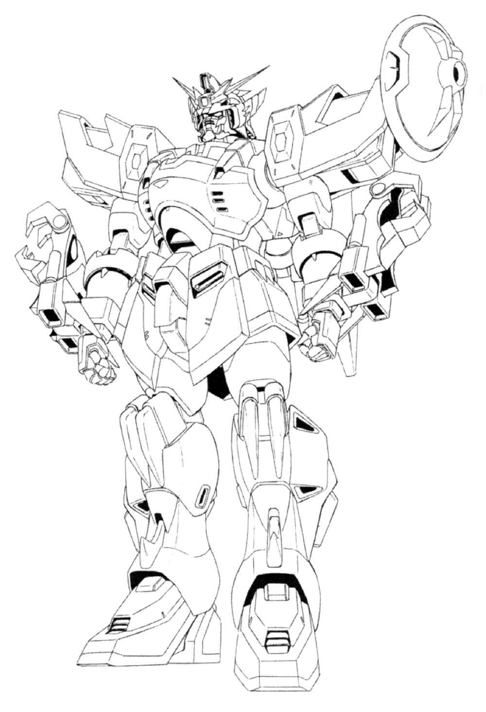 Image xxxg 01s2 gundam altron front view for Gundam wing coloring pages