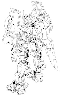 File:Gundam astaroth origing rear BW lineart.png