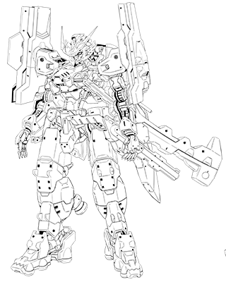 File:Gundam astaroth origing front BW lineart.png