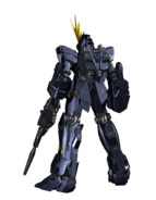 RX-0 Unicorn Gundam 02 Banshee (Unicorn Mode) CG Art (Rear)