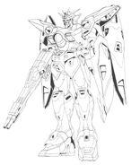 XXXG-00W0 Wing Gundam Zero Front View Lineart
