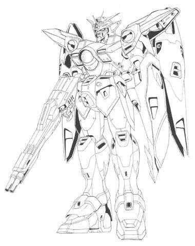 File:XXXG-00W0 Wing Gundam Zero Front View Lineart.jpg