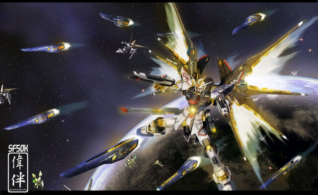 File:Strike Freedom Full Burst 50K by sandrum.jpg