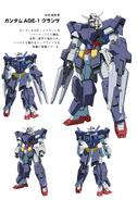 Gundam AGE-1 Flat FA Details