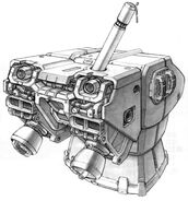 RGM-79N GM Custom - Recharge Rack and Rocket Thrusters