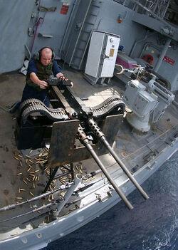 Twin .50 caliber machine gun
