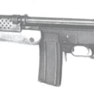 Madsen LAR with tube stock.