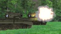 Pershing opening fire