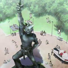 Statue of Kamina in Kamina City