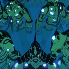 Part of Lordgenome's Gunmen Army, including Lazengann in front.