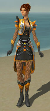 Elementalist Elite Flameforged Armor F dyed front
