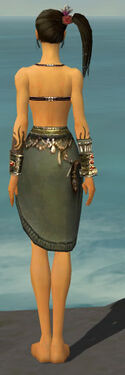 Ritualist Canthan Armor F gray arms legs back