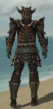 Warrior Elite Dragon Armor M gray back