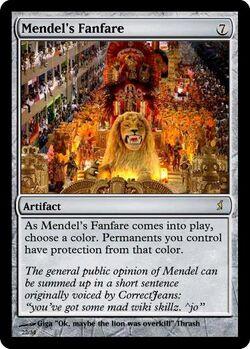 Giga's Mendel's Fanfare Magic Card