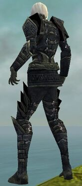 Necromancer Elite Cultist Armor M gray back