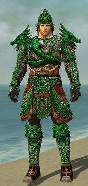 Warrior Elite Canthan Armor M dyed front