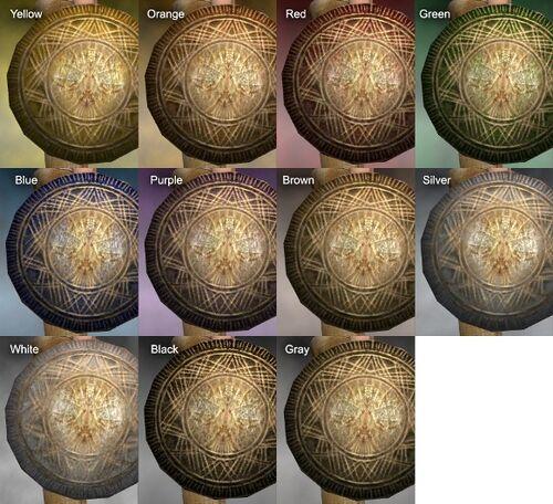 Woven Shield Dye Chart
