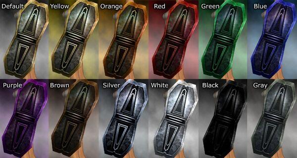 Adamantine Shield dye chart