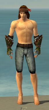 Ranger Druid Armor M gray arms legs front