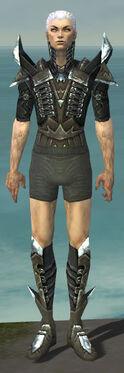 Necromancer Profane Armor M gray chest feet front