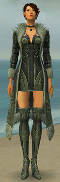 Mesmer Kurzick Armor F gray chest feet front