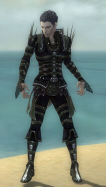 Necromancer Elite Cabal Armor M gray front