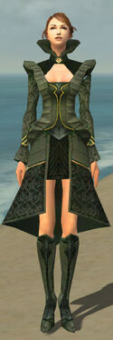 Mesmer Performer Armor F gray chest feet front