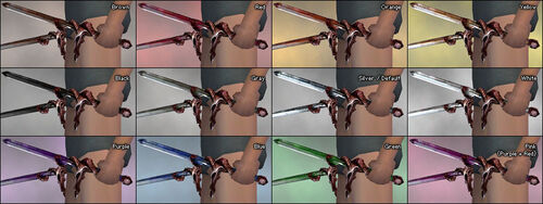 Oni Daggers dye chart
